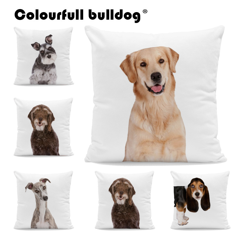 Coonhound French Bulldog Greyhound Cushion Cases Siberian Husky Pillow Cases Chinese Crested Dog Decor Living Room Office Couch