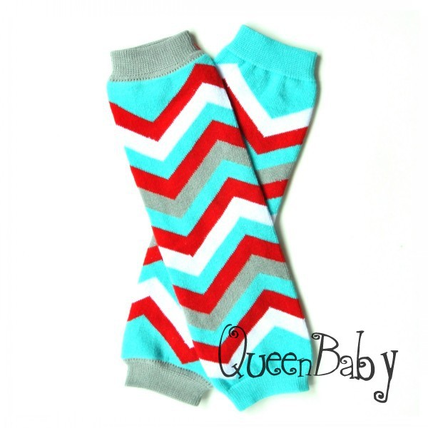 Chrismas Chevron Leg Warmer Baby Leg warmers 60 Pair/lot QueenBaby