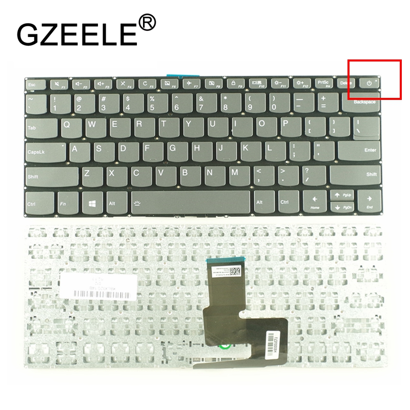 GZEELE New US For Lenovo 7000 IdeaPad 320-14ISK 320-14IKB 120S-14IAP 320S-14IKB 320-14AST 320-14 English Laptop Keyboard Black