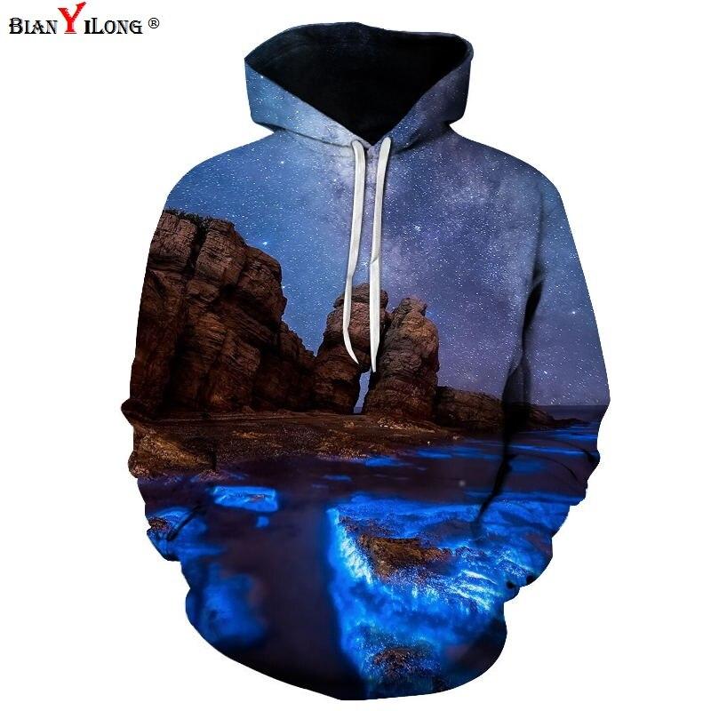 Starry Night Scenery Men Women 3d Sweatshirt Fashion Print Van Gogh Oil Painting Hooded Hoodies Tracksuits