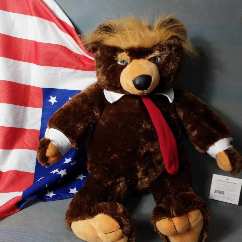 1 Stücke 60 cm Donald Trump Bär Plüschtiere New Cool USA Präsident Bär Sammlung Puppen spielzeug Geschenk Für Kinder junge