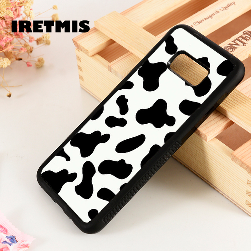 Iretmis Phone Case Cover Silicone-Rubber Cow-Print Samsung Galaxy Edge-Plus Note 3