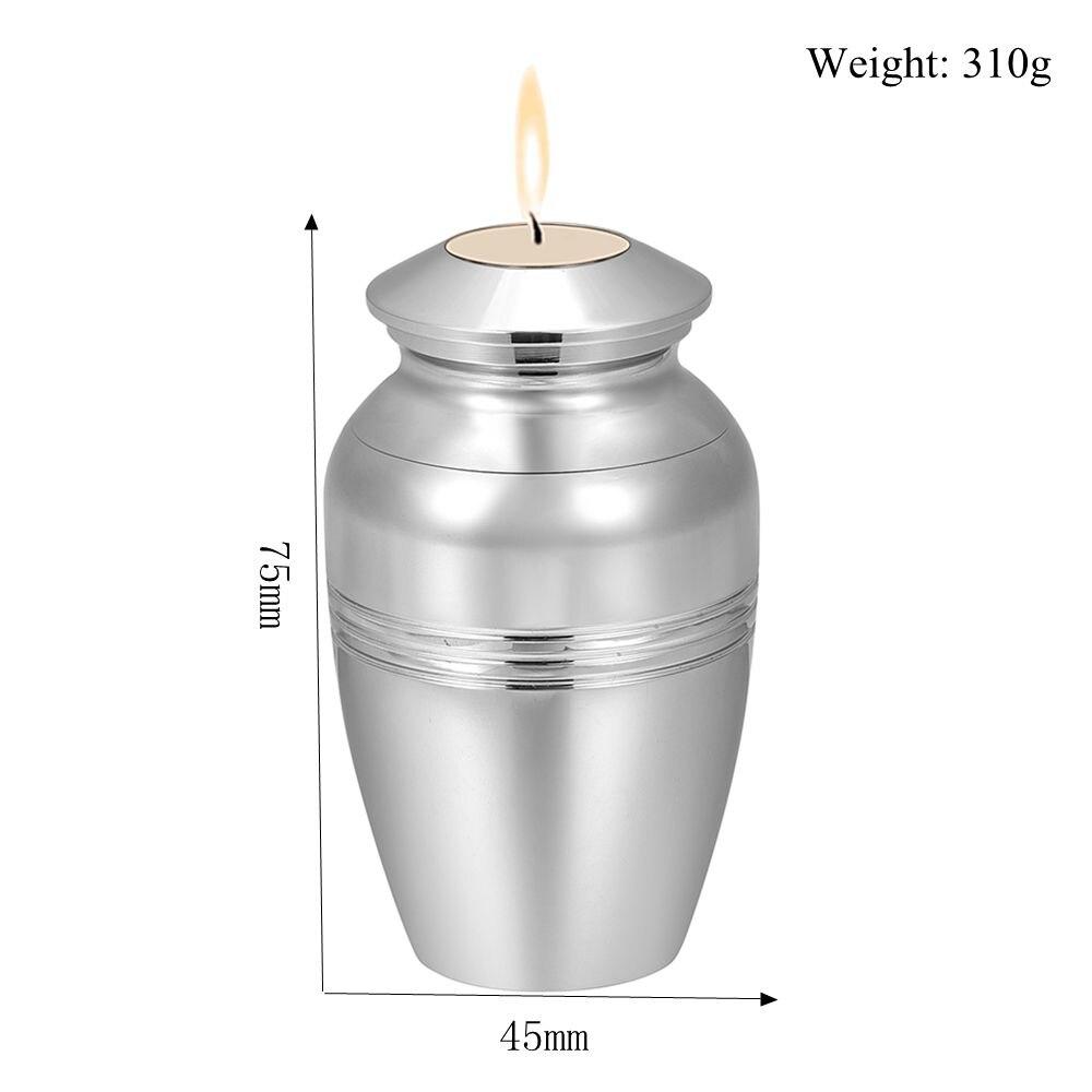 590135470 Cheap Espejo de acero inoxidable pulido de lujo candelabro de ceniza urnas  de cremación para oración