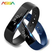 2017 Smart Bracelet Smart Electronics LED Health Fitness Bracelet Pedometer Heart Rate Bluetooth Smart Wristband Android Phone