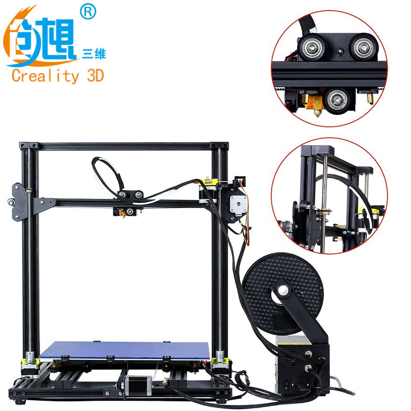 2018 CREALITY 3D Printer Upgrade CR-10 S4 Large Printing Size 400*400*400mm Dual Rod DIY Kit Filament Touch/Normal LCD Option creality 3d cr 10s diy 3d printer kit large printing size 300 300 400mm dual z rod resume printing filament detect function