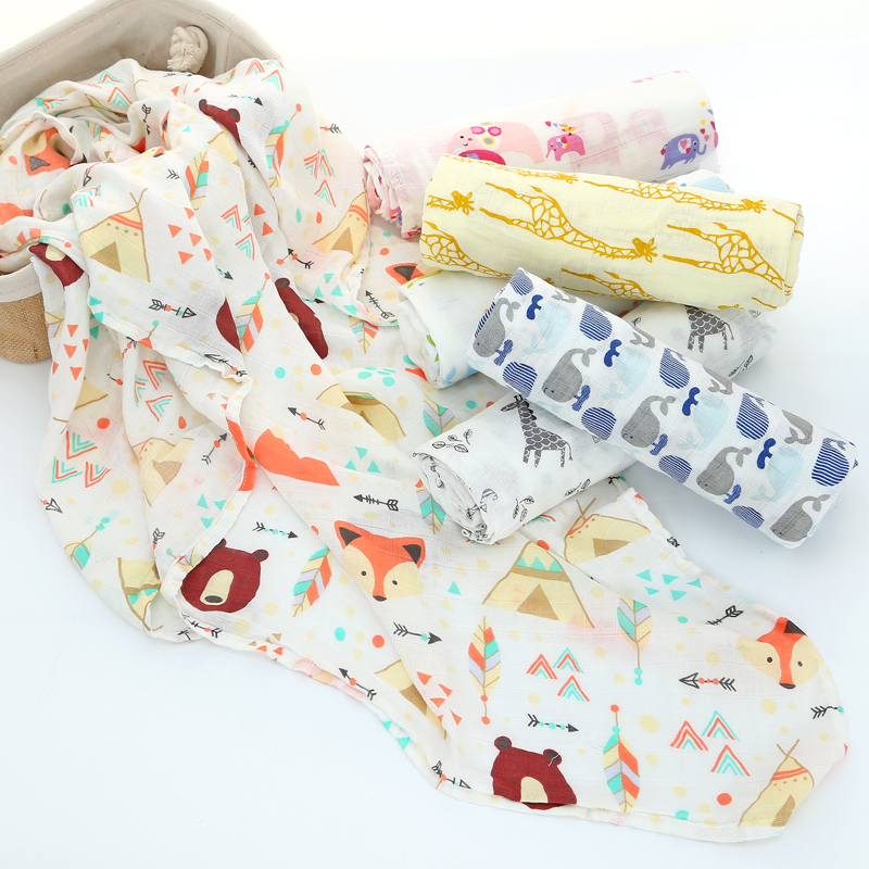 Bamboo Cotton Baby Blanket Newborn Baby Swaddle Bamboo Cotton Blanket Infant Wrap Soft Baby Bath Towel Swaddle Blankets