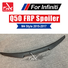 Q50 Tail Spoiler Wing M4 Style FRP Unpainted Q50S Rear Trunk Lip Wing For Infiniti Q50 Q50S Rear Trunk Wing Spoiler Lid 2015-17 стоимость