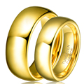 Atacado 1 par tungsten carbide banhado a ouro anel para mulheres dos homens amantes de banda aliança de casamento conjuntos de jóias de noiva