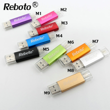 Reboto usb Flash drive Colorful OTG pen drive 4GB 8GB usb stick 16GB 32GB 64GB memory stick for Android phone computer U Disk