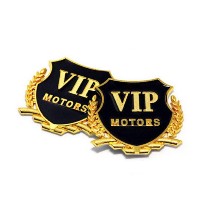 Car Styling 3D Logo VIP MOTORS Metal DIY Sticker for Nissan Teana X-Trail Qashqai Livina Tiida Sunny March Murano Geniss Juke