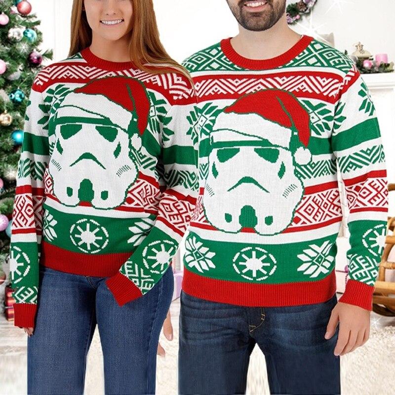 Mens/Womens Ugly Christmas Sweater 3D Print Cool Crewneck Sweatshirt Santa Long Sleeve Shirt Funny Christmas Shirt Family Outfit