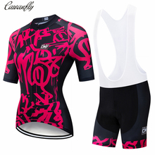 IRONANT women's Cycling Jersey Couple Sets Short Sleeve Summer Cycling Clothing Bike Clothes 2019 Pro Team 2019 New Rose red