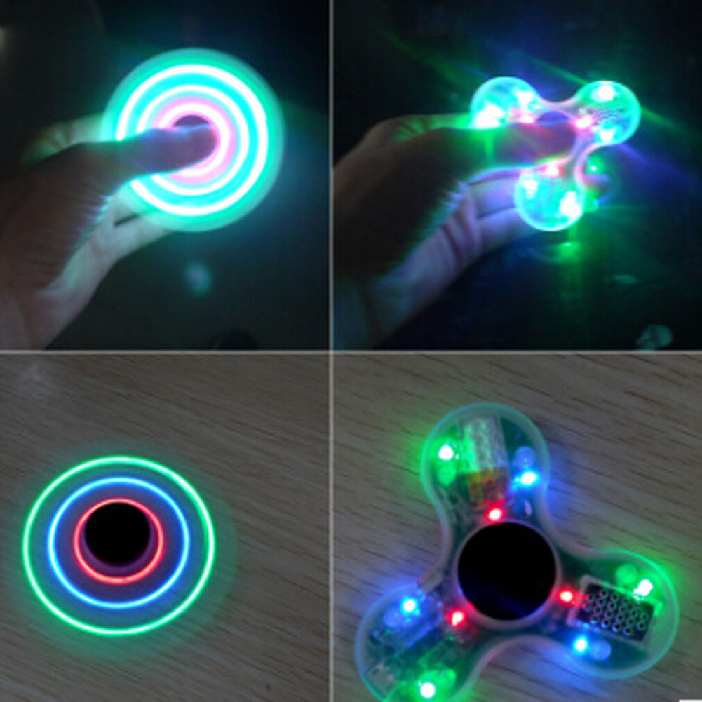 LED MINI Bluetooth USB Speaker Fidget Fingertip Toy Spinner EDC Spinner Funny Fidget Toy