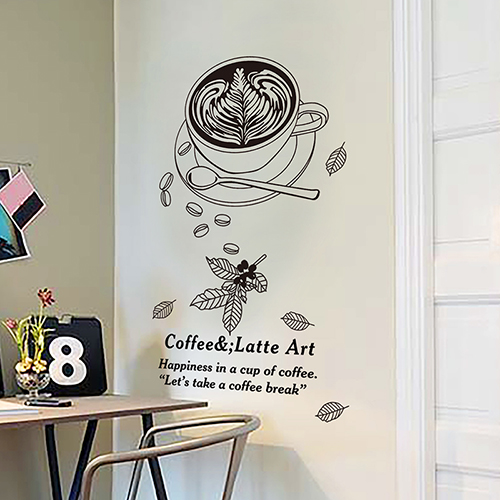 Kitchen Wall Stickers Tea Shop Decoration Can Remove The Background Wall  Wallpaper Wall Stickers Stickers Coffee Part 45