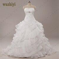 83 Strapless Beaded Belt Ball Gown Bridal Wedding Gown Bride Dress Ruffled Princess Plus Size Wedding