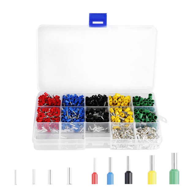 Set Wire End Ferrule Set Assortment 4.0 0.5mm Insulated Cable Lugs ...