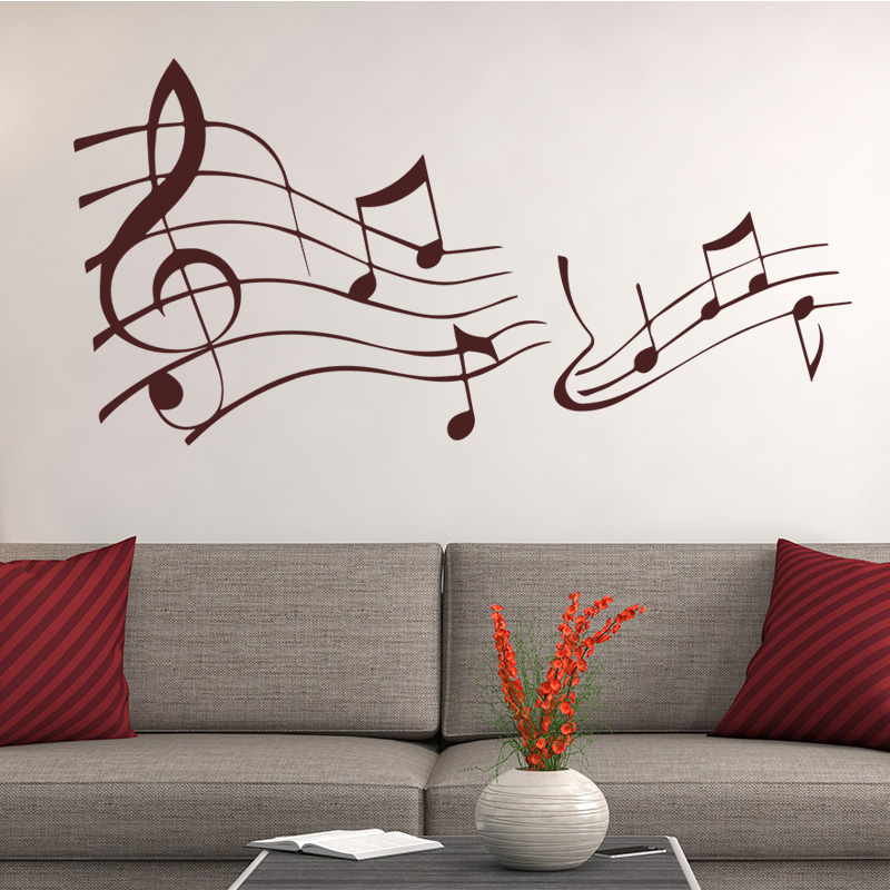 Music Sign Musical Notation Removable Wall Sticker Decal Kids Boys Girls Room Baby Nursery Home Decor Room Background Art