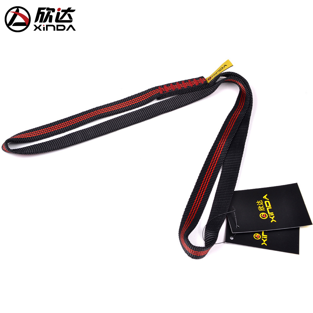 XINDA 22KN 60cm-220cm Polyester Rock Climbing Sling Bearing Strap Reinforce Rope Belt Load-bearing Bandlet Mountaineer Equipment