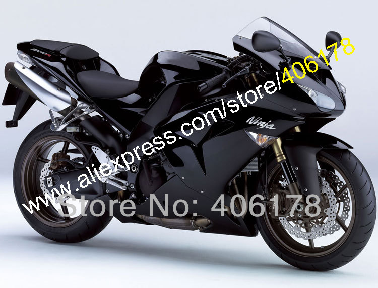 WorkBody For Ninja ZX-10R 2006 2007 ZX10R 06 07 ZX 10R Full Black Motorcycle Fairings (Injection Molding)