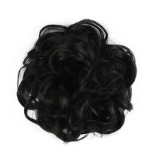 Black Hair Bun Curly Chignon Postiche Cheveux 6'' Hair Extension High Temperature Fiber Synthetic Hair Buns For Women 16 Clolor(China)