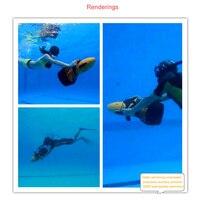 Бросился лучшее оборудование для дайвинга подводный пропеллер воды скейтборд погружной одного Приспособления для плавания подводное плав