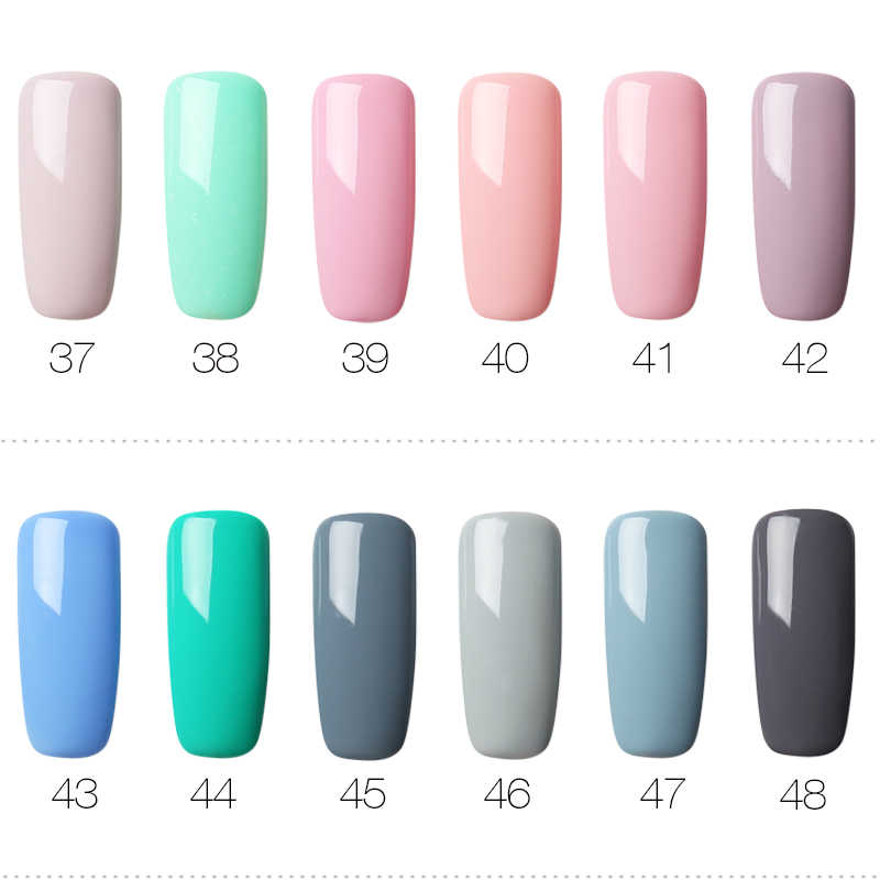 (Kies 4) ROSALIND Gel Nagellak Set Effen Kleur Serie Voor Nagel Nail Art Design Gel Vernis Top Polijsten Lak