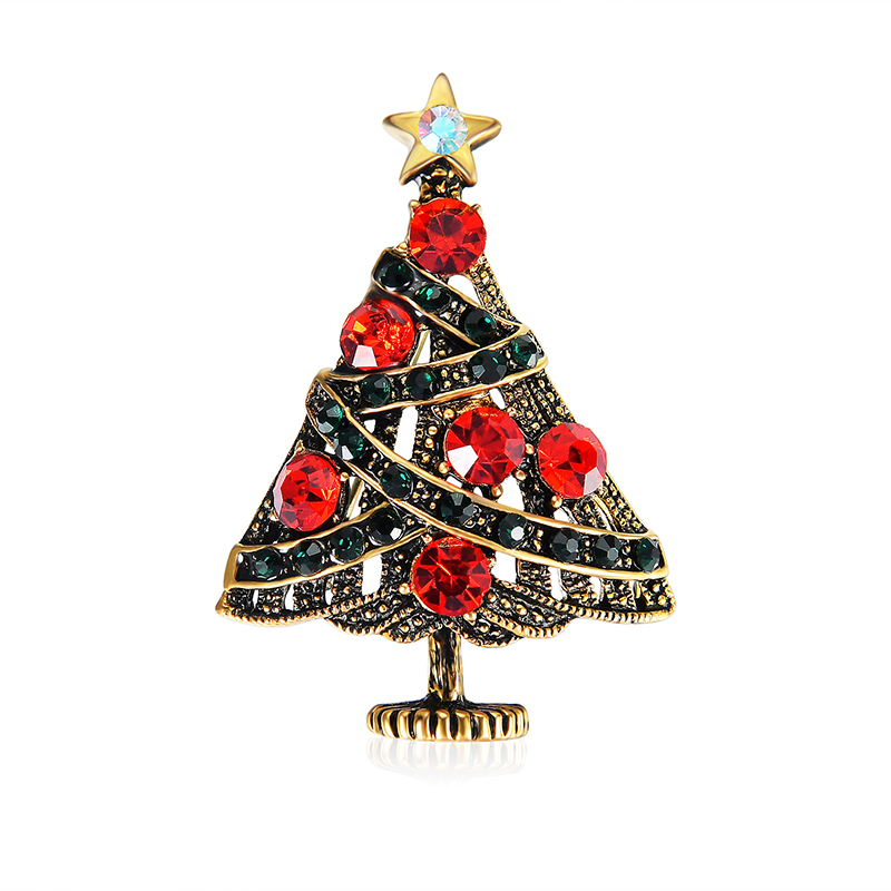 SHUANGR New Christmas Tree Brooch Pins Collar Lapel Pin For Women ...