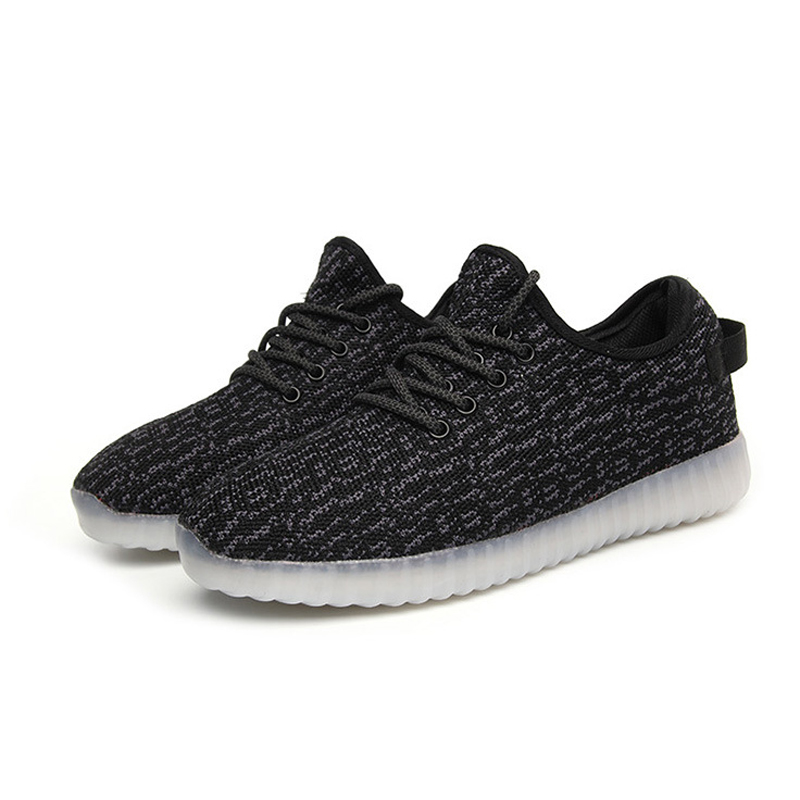 ФОТО Fluorescent shoes LED lighted casual shoes 2016 summer Luminous shoes breathable fashion lovers casual shoes ST810