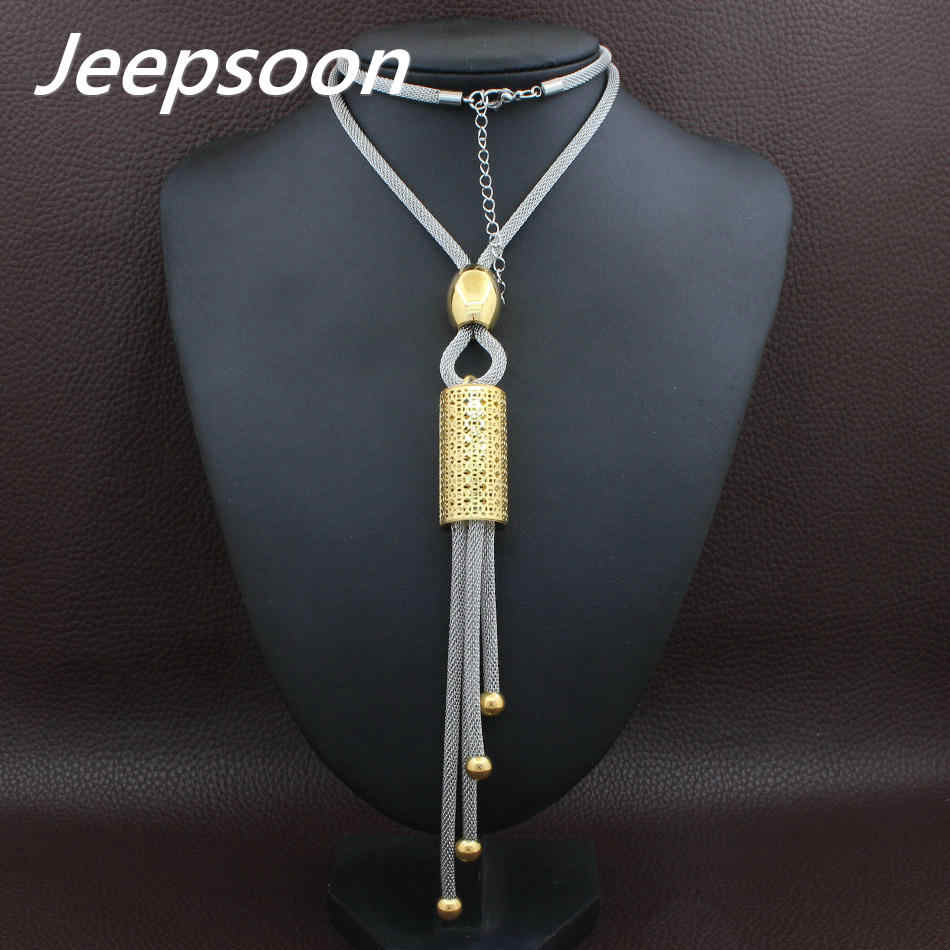 Fashion Stainless Steel Jewelry For Woman Long Chain Necklace High Quality Jeepsoon NEIGAHCA