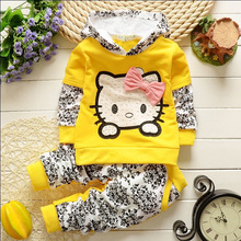BibiCola baby girls christmas outfits Clothing sets hoodies+pant Children hoodies spring autumn kids 2pcs Sets sport clothes set