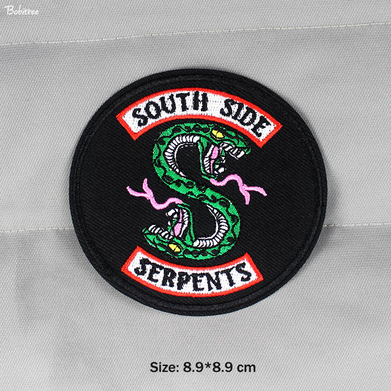 SNAKE SKULLS SERPENT COBRA Embroidered Iron Sew On Cloth Patch Badge APPLIQUE