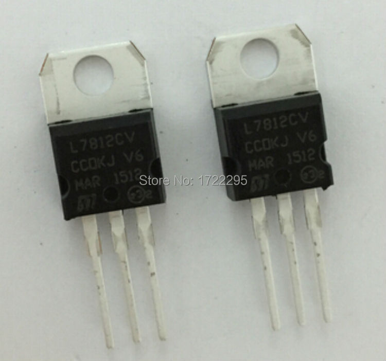 FREE SHIPPING 100PCS L7812CV L7812 LM7812 7812 TO220 TO-220 Voltage Regulator IC 12V