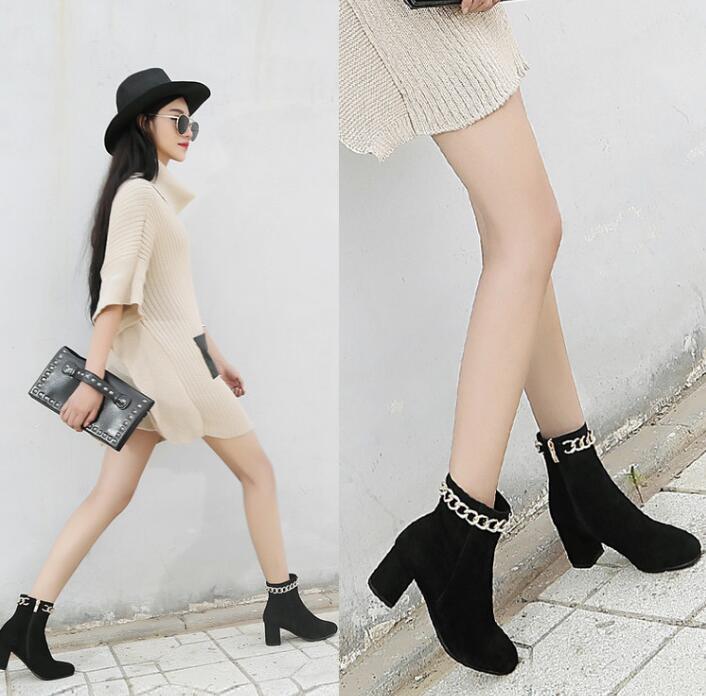 98a2085f5a4ca ... Toe Ankle Boots Gold Chain Around Ladies Square Heel Boots Zipper Side  Knight Boot. QQ20141101084642 HTB1qZ7iFVXXXXbUXpXXq6xXFXXXK.  QQ20170322155015 ...