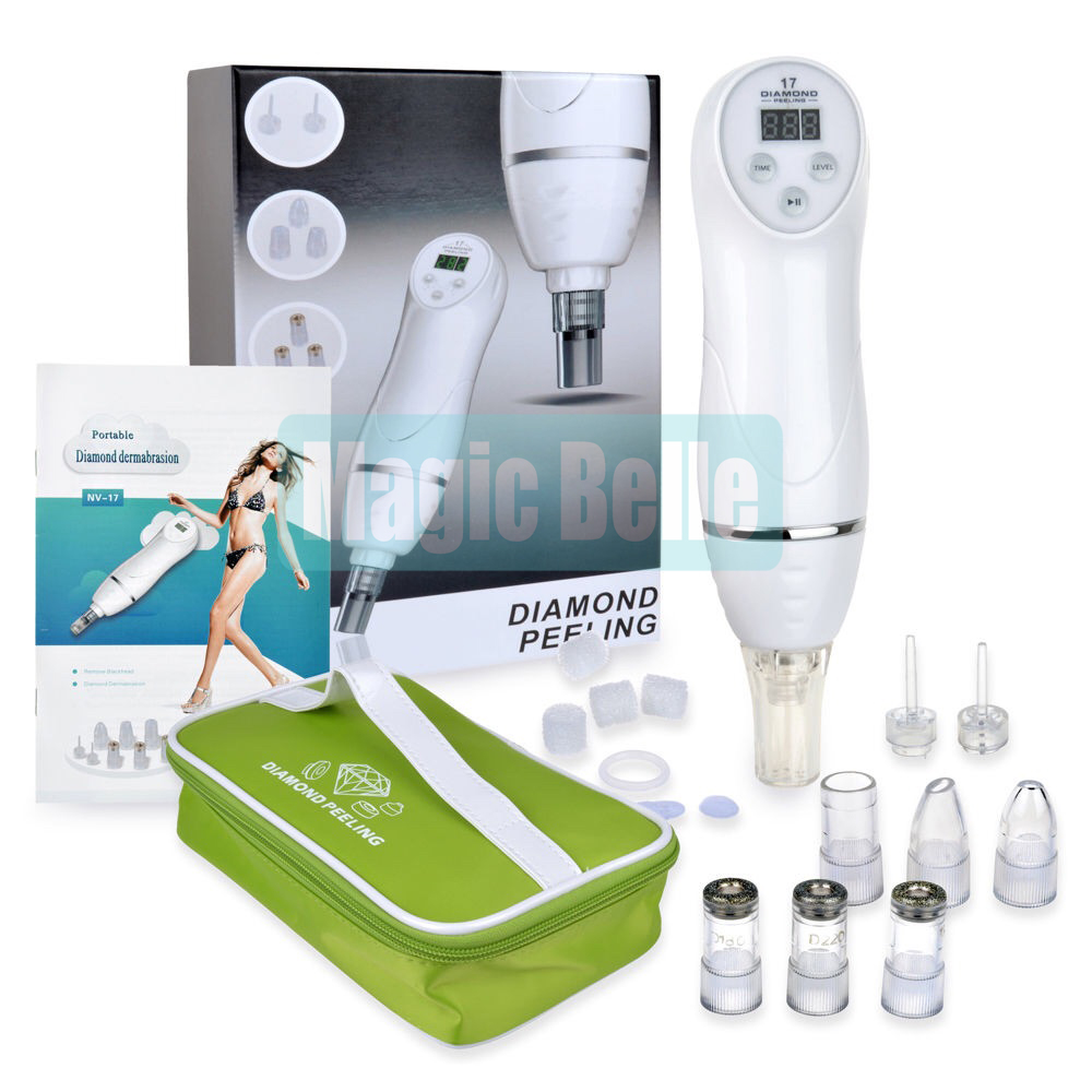 Portable Beauty Tool Vacuum Suction Facial Blackhead Remover Microdermabrasion Machine for Home use