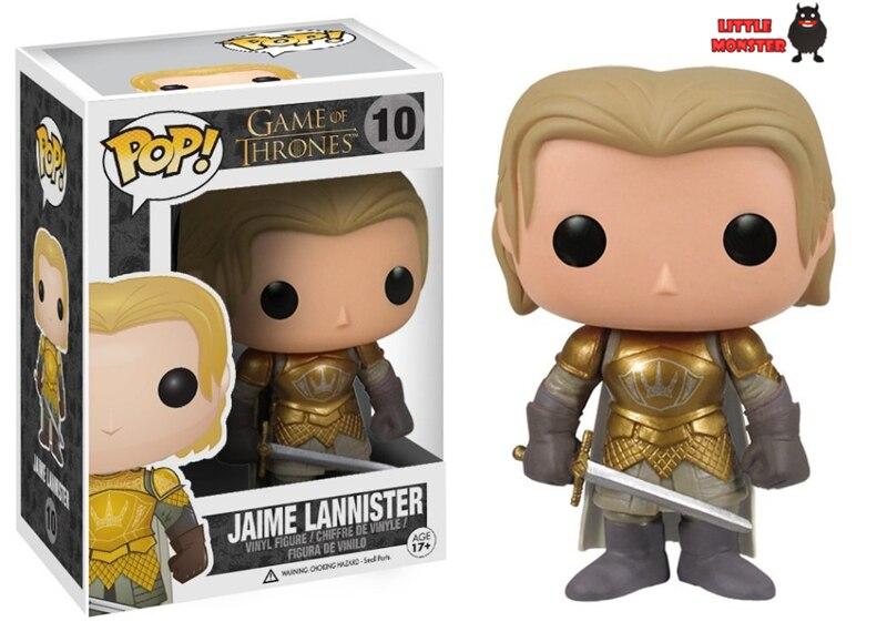 Genuine funko pop 10cm <font><b>Game</b></font> <font><b>of</b></font> <font><b>Thrones</b></font> <font><b>Jaime</b></font> <font><b>Lannister</b></font> <font><b>action</b></font> <font><b>figure</b></font> Bobble Head Q Edition new box for Car Decoration 019