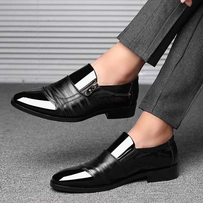 REETENE Mode Business Dress Hommes Chaussures 2019 Nouveau Classique - Chaussures pour hommes - Photo 6