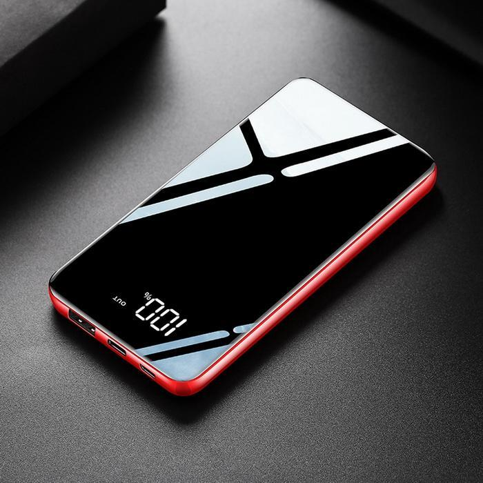 10000mAh Portable Power Bank Dual USB LCD Display Mobile PowerBank Smartphone External Battery Charger Black For iPhone Xiaomi