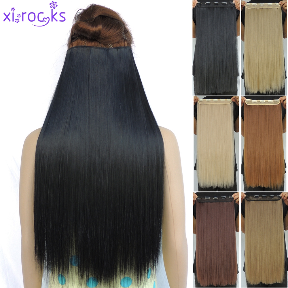 Compare prices on rock star hair extensions online shoppingbuy 5 clip in vip beauty hair extensions 24 100g synthetic hairpiece extentions hot straight pmusecretfo Images
