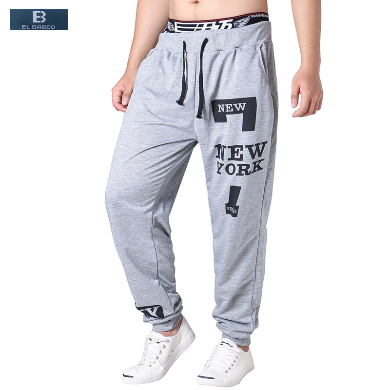 Summer Slim Men Harem Pants Black Letter Pattern Male Trousers Pockets Casual Sweatpants Soft Breathable Skinny Joggers Size 3xl Comfortable And Easy To Wear Pants