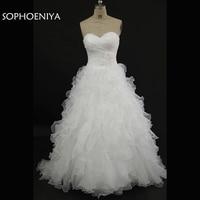 Vestido de noiva Nova chegada Branco Uma Linha Branca vestidos de Casamento 2018 Robe de mariee brautkleid vestido de noiva de Renda