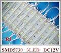 Módulo de LED à prova d' água luz traseira iluminação de sinal DC12V 5730 SMD 3led 3*0.35 W 1 W 100lm 3led/pcs 20 pcs/string 3000 pçs/lote CE