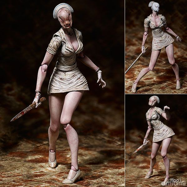 NEW 15cm Silent Hill 2 nurse terrorist movable Action figure toys doll Christmas gift with boxNEW 15cm Silent Hill 2 nurse terrorist movable Action figure toys doll Christmas gift with box