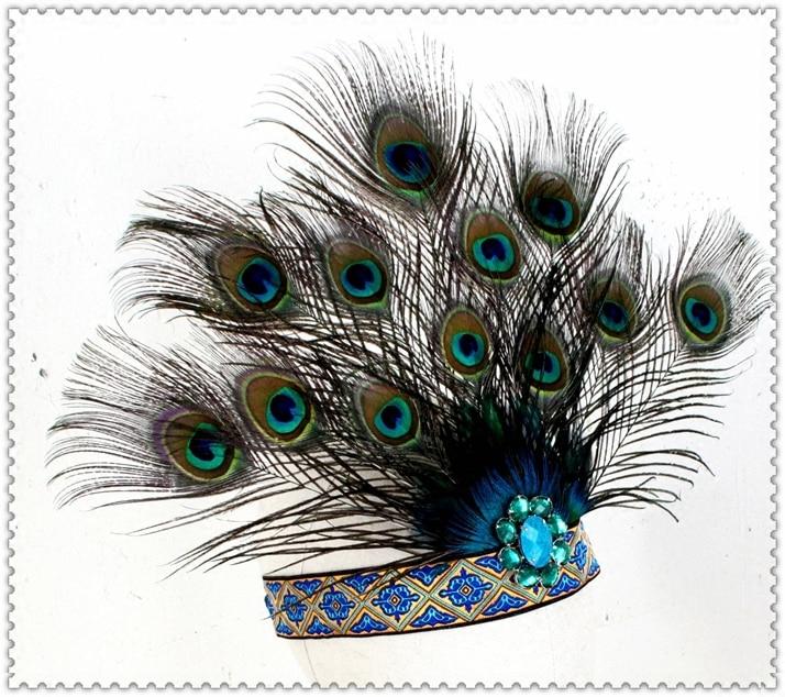 adultos y nios de halloween fiesta de carnaval tocado de plumas de pavo real accesorios para