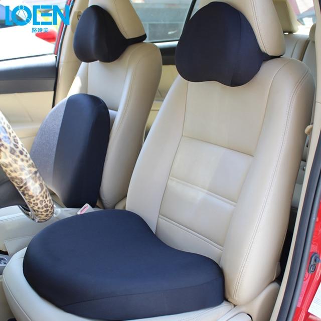 LOEN Car Seat Supports Neck Headrest Pillow Black Freedom Cushion Lumbar Waist Back Support