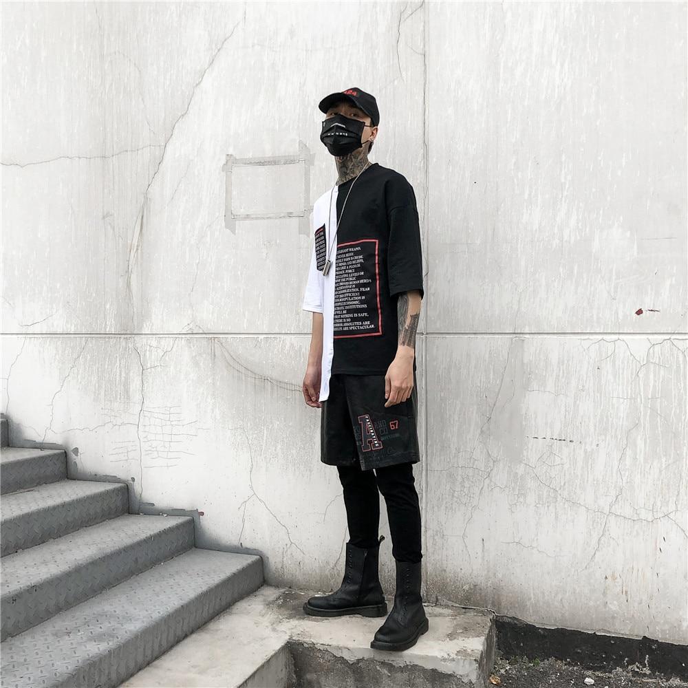 Élastique Pièces Noir En Taille Automne De Poche Deux Occasionnel Pantalon Cuir Mâle Lettre Faux Mince Hommes Summer Long Crayon q1v7O1tc