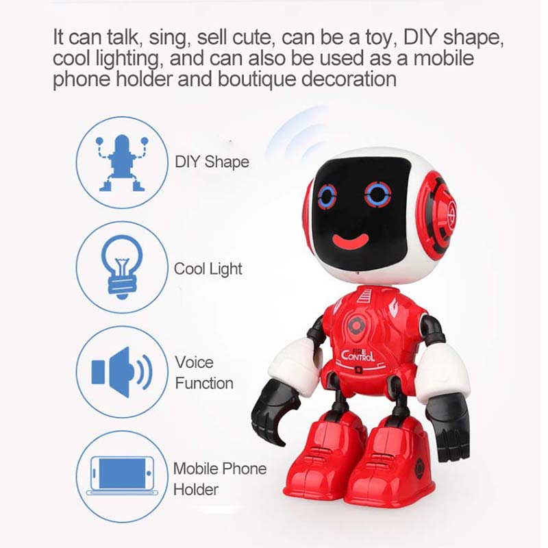 Official Website Induction Intelligent Remote Control Robot Children Educational Toys Early Kids Smart Toys With Music Talking Walking Function Smart Electronics