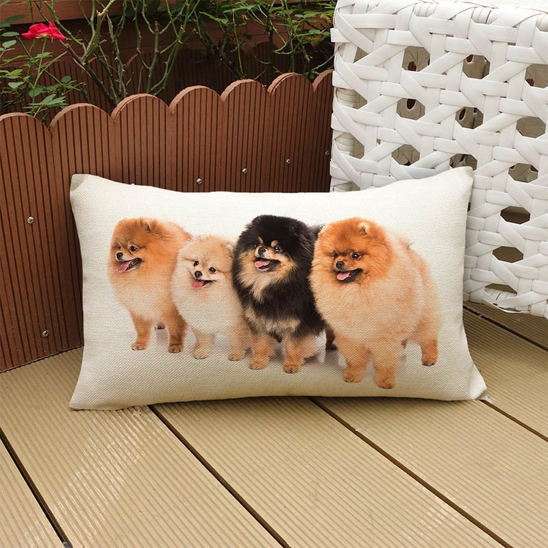 Наволочки с длинной талией и принтом милой собаки, 30x50 см, декоративные наволочки для дивана, сиденья, домашний декор