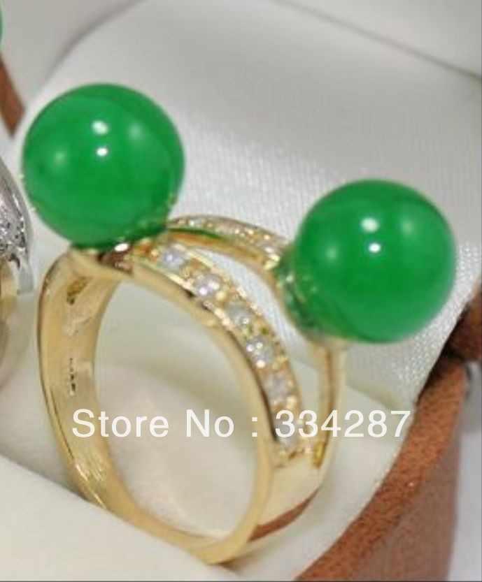 6 สี! 10 มม. สีเขียว/สีชมพู/สีม่วง/สีเหลือง/สีฟ้า jades/สีดำ agatges/อเมทิสต์แหวน