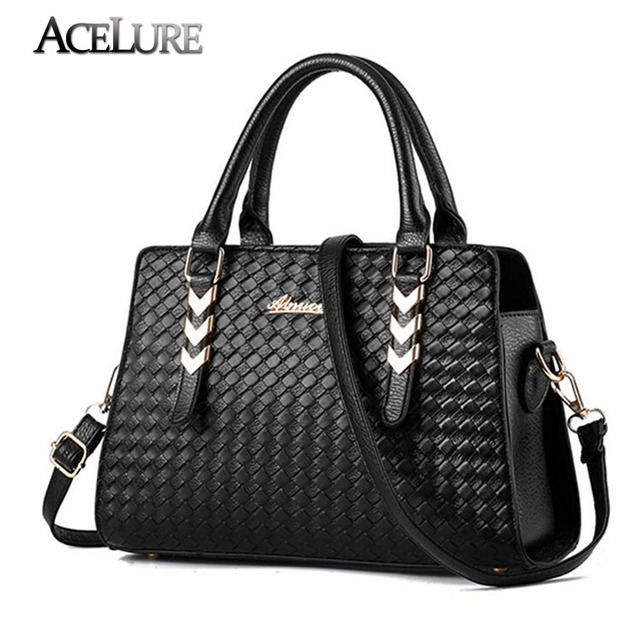 Fashion Trend women 2017 New handbag knitted casual women's shoulder bag Charm weaving female messenger bag top-quality tote bag