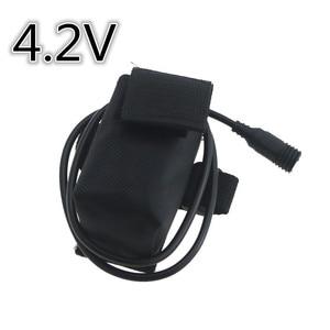 18650 6400mAh 4,2 v Велосипедный свет Батарея мощность с резьбой Srew 4x18650 аккумуляторная батарея и зарядное устройство для велосипедных фар
